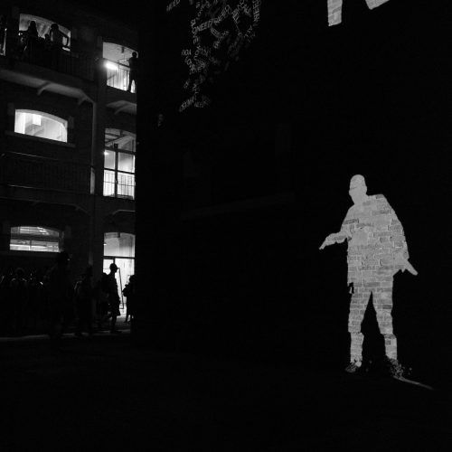 Interactive video projection mapping at IUAV